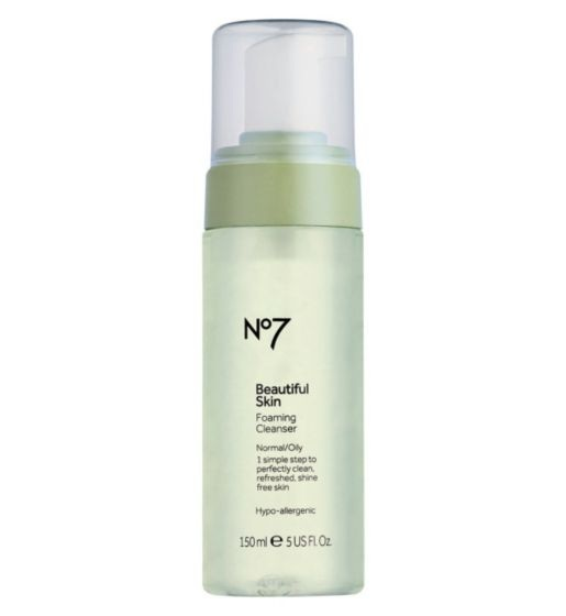 No7 Beautiful Skin Foaming Cleanser for Normal / Oily Skin