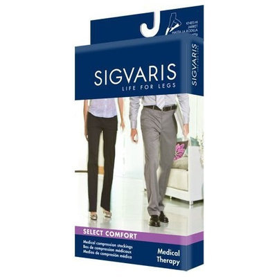 Sigvaris 860 Select Comfort Series 20-30 mmHg Open Toe Unisex Thigh High Sock Size: S2