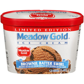 Meadow Gold Brownie Batter Ice Cream, 1.5 qt