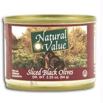 Natural Value Sliced Black Olives (24x24/2.25 Oz)