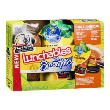 Lunchables Ham & American Sub Sandwich With Smoothie