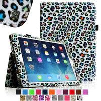 iPad Air 2 Case [Corner Protection] - Fintie Slim Fit Leather Folio Case with Auto Sleep / Wake Feature, Leopard Rainbow