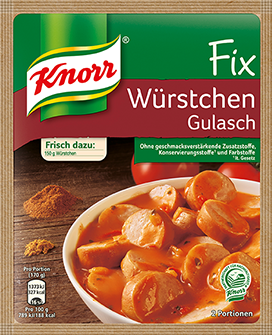 Knorr® Fix For Sausages Goulash
