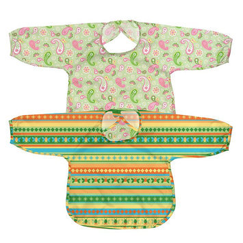 Green Sprouts By I Play. 2-Pk. Striped And Paisley Waterproof Bibs