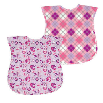 Green Sprouts By I Play. 2-Pk. Argyle And Paisley Waterproof Bibs