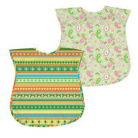 Green Sprouts By I Play. 2-Pk. Paisley And Striped Waterproof Bibs