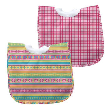 Green Sprouts By I Play. 2-Pk. Striped And Plaid Waterproof Bibs