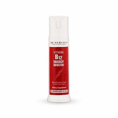 Dr. Mercola Vitamin B12 Energy Booster Spray - Formulated With Methylcobalamin - Natural Blackberry Flavor - .85 Ounces