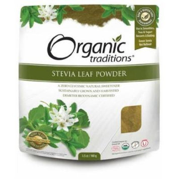 Stevia Powder 100g -Green Leaf -Raw Food Diet- Brand: Organic Traditions