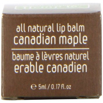 3M North American Hemp Co. All Natural Lip Balm, Canadian Maple, 0.17 Ounce Box