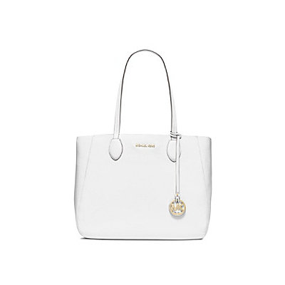 Michael Kors Mae Large Leather Tote, Pink