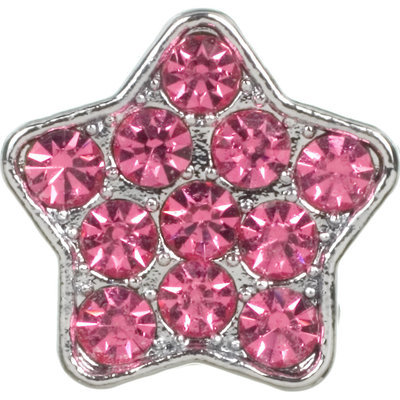 Dickens' Closet Create-a-Collar 10mm Pink Pave Star Charm