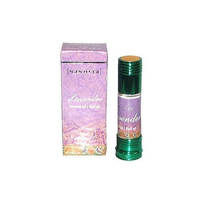 Lavender - Nandita Incense Oil/Roll On - 1/4 Ounce Bottle