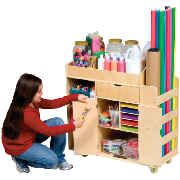 Guidecraft Art Activity Cart, 1 ea