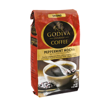 Godiva Chocolatier Ground Peppermint Mocha Coffee