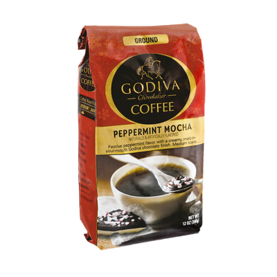 Godiva Chocolatier Ground Peppermint Mocha Coffee