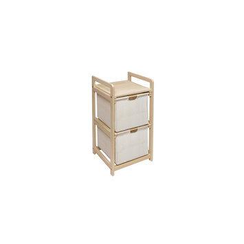 Badger Basket Natural/Unfinished Two Bin Hamper/Storage Unit (Natural)