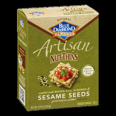 Blue Diamond Almonds Artisan Nut-Thins Sesame Seeds Cracker Snacks