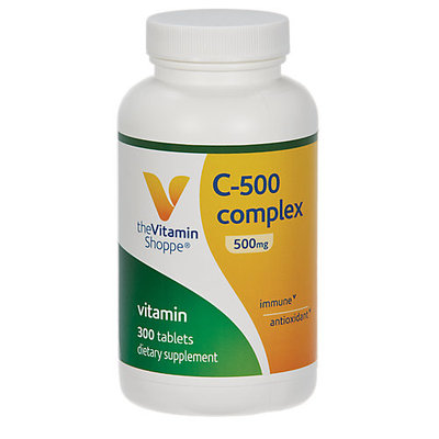 Vitamin Shoppe C-500 Complex Tabs 500 MG - 300 Tablets - Vitamin C Complex