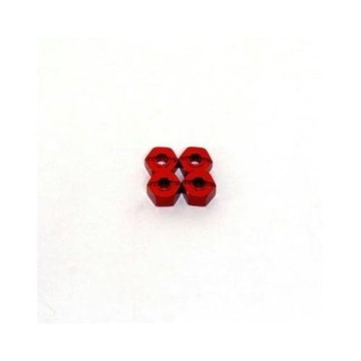ST RACING CONCEPTS ST Racing Concepts ST3654-12R Aluminum Hex Adapter Traxxas (Red)
