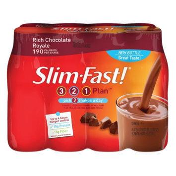 Slim-Fast 3-2-1 Plan Shakes 8 oz Bottle 8 Pack Chocolate
