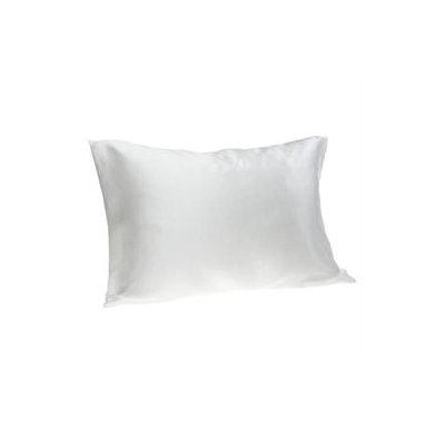 Spasilk 100-Precent Pure Silk Facial Beauty Pillowcase, Standard/Queen, White