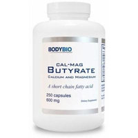 BodyBio , Cal/Mag Butyrate , Calcium & Magnesium , 250 Capsules , 600mg