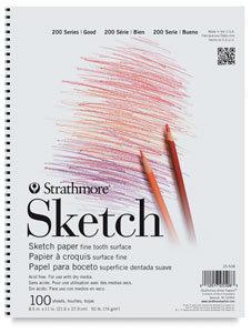 Strathmore 200 Series 9 x 12 Tape Bound Sketch Pad