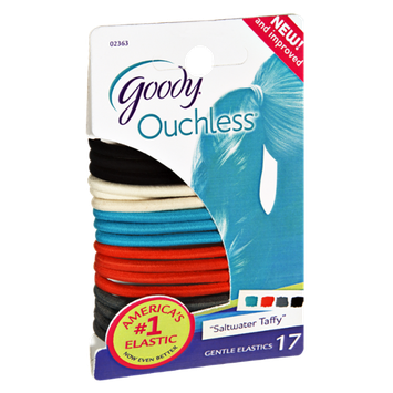 Goody Ouchless Saltwater Taffy Gentle Elastics - 17 CT