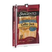 Sargento Colby-Jack Cheese Slices Reduced Sodium - 10 CT