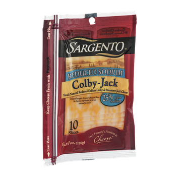 Sargento® Reduced Sodium Colby-Jack Cheese Slices