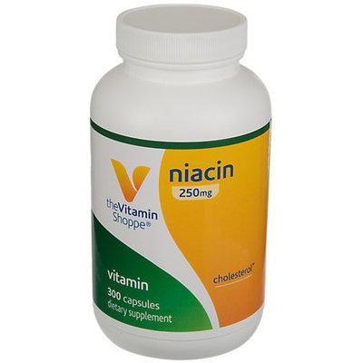Vitamin Shoppe Niacin (Sustained Release) 250 MG - 300 Capsules - Niacin