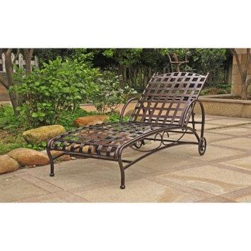 International Caravan Santa Fe Iron Patio Chaise Lounge - Bronze