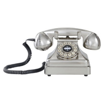 Crosley Kettle Classic Desk Phone - Brushed Chrome (CR62-BC)