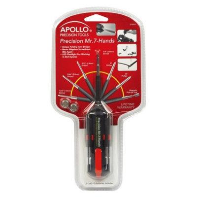 Apollo Tools Apollo Precision Multi Tool Screwdriver with Seven Hands - Red