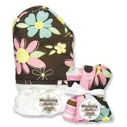 Trend Lab Blossoms 6-pc. Hooded Towel & Washcloth Bouquet Set