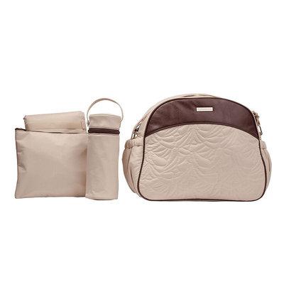 Kalencom Jazz Breeze Diaper Bag - Cream Cream/Brown