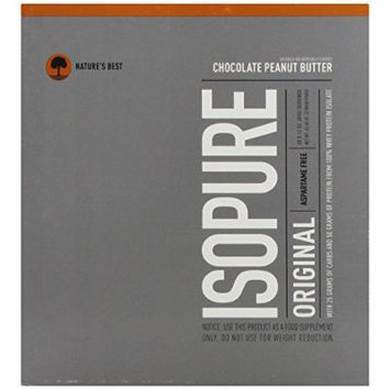 Nature's Best Isopure, Chocolate Peanut Butter Swirl, 20 Drink Packets 62.40 Ounces