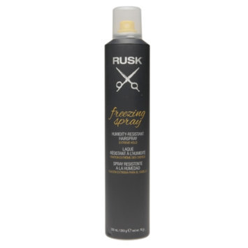 Rusk Freezing Spray Humidity-Resistant Hairspray, Extreme Hold, 10 oz