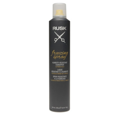 Rusk Freezing Spray Humidity-Resistant Hairspray, Extreme Hold, 10 oz