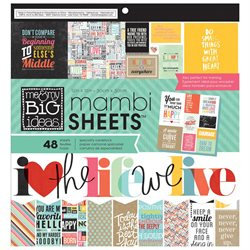 Me & My Big Ideas PADX270 MAMBI Paper Pad 12 in. x 12 in. 48-Pkg-Quoted