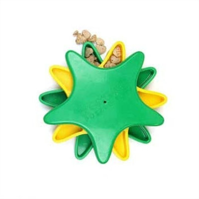 Kyjen Dog Games Puzzle Toys Outward Hound 41005 Star Spinner Treat Toy Dog Toys Scent Puzzle Training Toy, Large, Blue