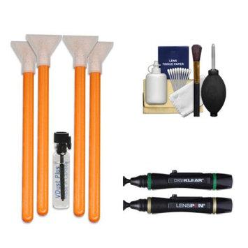 VisibleDust EZ Sensor Cleaning Kit for Size 1.6x Digital SLR Cameras with 1ml Liquid vDust Plus & 4 Vswabs + (2) Lenspen + Cleaning Accessory Kit