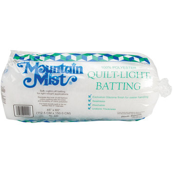 Mountain Mist Batting 217817 Quilt-Light Polyester Batting-Crib-Craft Size 45 in. x 60 in. FOB -MI