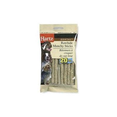 Hartz 20 Pack Dental Rawhide Munchy Sticks 97105