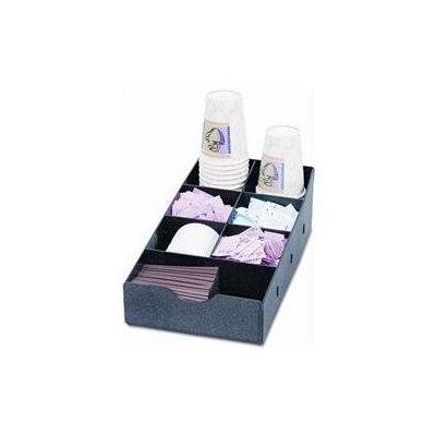 Vertiflex Condiment Caddy, 8-3/4w x 16d x 5-1/4h, Black