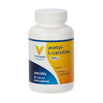 Vitamin Shoppe Acetyl-L-Carnitine 500 MG - 60 Capsules - Acetyl-L-Carnitine
