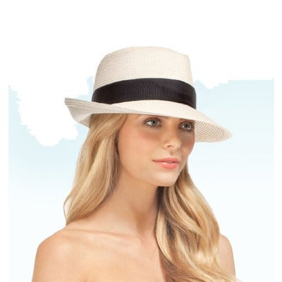 Eric Javits Women's Luxury Headwear Phoenix Hat Natural/Black