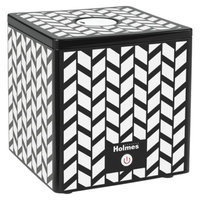 Holmes Ultrasonic Cube Humidifier- Blk/Wht Design