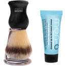 Men-u men-ü DB Premier Synthetic Bristle Shaving Brush with Chrome Stand - Black